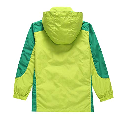 BASADINA Kids Waterproof Jacket - Boys Lightweight Jacket,Two-Sides Breathable Wind Rain Resistant Outdoor Jacket 5-14 Years - Ideal for Hiking