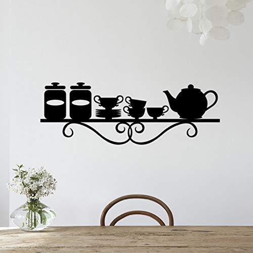 Pegatinas de pared, utensilios de cocina, decoración, restaurante, cocina, pegatinas de pared, decoración del hogar, PVC, papel tapiz artístico impermeable, 25x75cm