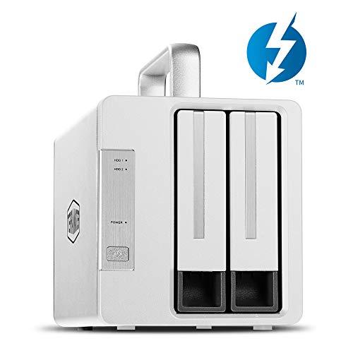 TERRAMASTER TD2 Thunderbolt 3 (40Gbps) 2-Bay Externes Festplattengehäuse RAID-Speicher RAID 0/RAID1/JBOD/SINGLE Festplattengehäuse RAID Gehäuse (Ohne Festplatte)