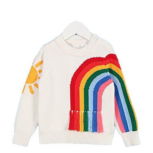 Guy Eugendssg New Spring Children's Clothing 1-5Yrs Children's Sweater Triangle Symbol Kids Pullover White 12M
