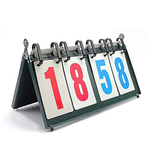 CLX Portable Flip Sport Anzeigetafel, Portable Table Top Scoreboard Ergebnis Flipper 0-99 Multifunktionsanzeiger Für Tischtennis, Basketball,Schwarz