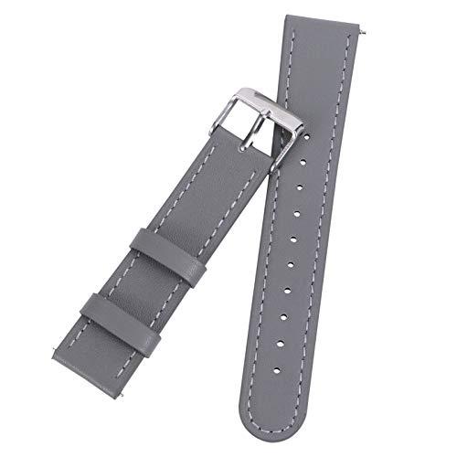 ibasenice Reloj de Repuesto Correa de Acero Inoxidable Hebilla Pulsera para Hombres Mujeres Compatible con Huami Amazfit Bip GTS Gris
