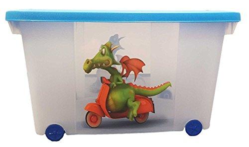 Eliware Spielzeugkiste (Multibox) mit Rollen (Drache-Multi)