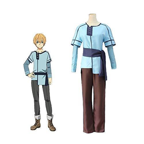 LCHENX-Anime Sword Art Online Alicization Residentes Eugeo Traje de Cosplay,Marrn,M