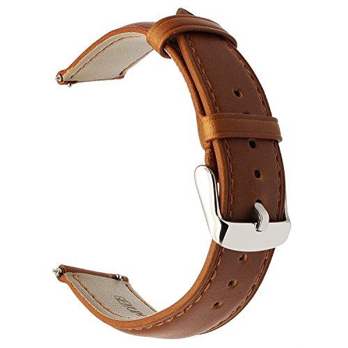 TRUMiRR kompatibel Für Huawei Uhr/ASUS Zenwatch 2 Armband, 18mm Crazy Pferd Echtes Leder Uhrenarmband für Huawei Uhr/ASUS Zenwatch 2