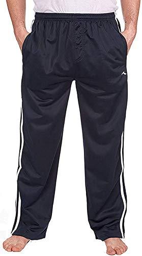 Best Deals Direct, pantaloni di tuta da ginnastica da uomo, pantaloni da jogging satinati, pantaloni da palestra Navy XX-Large