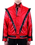 MJB2C - Michael Costume Jackson Thriller Jacket (Kids Child 8-9Y) - Red