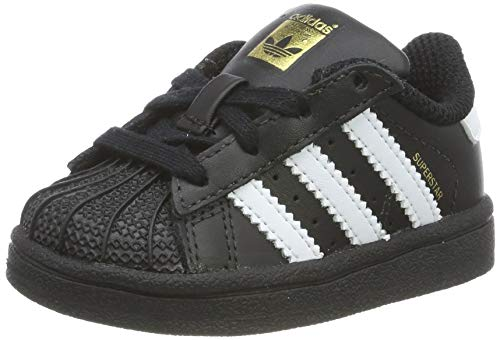adidas Unisex Baby Superstar Sneaker, Schwarz (Core Black/Footwear White/Footwear White), 21 EU