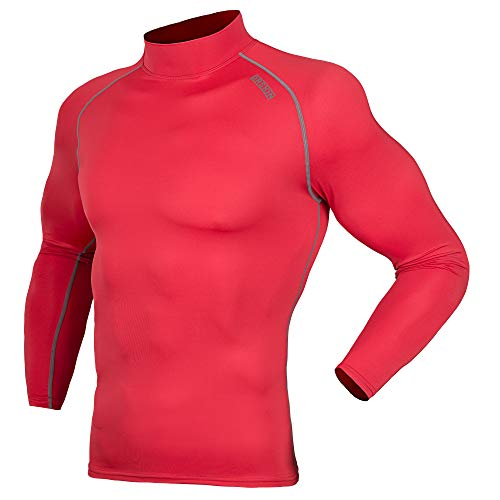 DRSKIN UV Sun Protection Long Sleeve Top Shirts Skins Tee Compression Base Layer (SRG051, S)