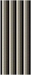 Kapaqua Custom Size Black & Grey Stripes Rubber Backed Non-Slip Hallway Stair Runner Rug Carpet 26 inch Wide | Choose Your Length 26in X 5ft