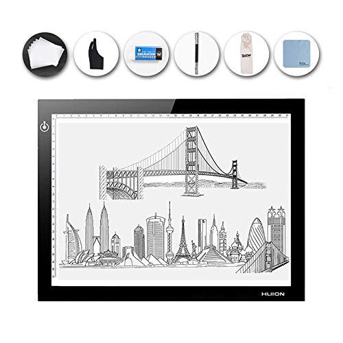 HUION L4S Slim Light Pad, LED Light Box Pad - USB Powered, Dimmable...