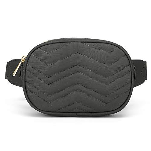 Wind Took Mode Damen Gürteltasche Bauchtasche Hüfttasche für Reise Alltag Outdoor Mini, 17 x 4 x 11 cm, Grau