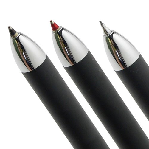 Cross Tech3 Satin Black Multi-function Pen - 0.5 MM Lead Size Pencil , Black Ink Refill , and Red Ink Refill in One Pen.