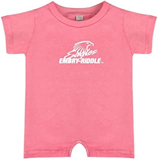CollegeFanGear Embry Riddle Bubble Gum Pink Infant Romper 'Primary Mark'