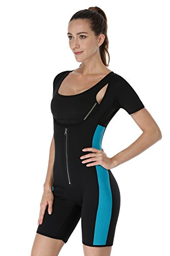 NonEcho Sauna Full Body Shaper Sweat Bodysuit Sleeve Shapewear Slimming Suit Weight Loss GYM Sport Aerobic Boxing MMA