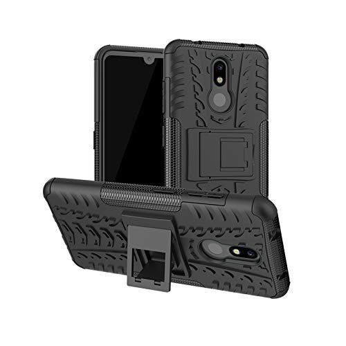 betterfon |Nokia 3.2 hülle Outdoor Handy Tasche Hybrid Case Schutz Panzer TPU Silikon Hard Cover Bumper für Nokia 3.2 Schwarz