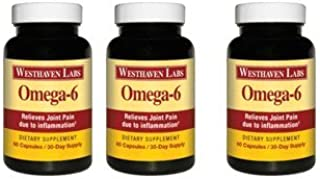 Omega-6 | Natural Joint Support Formula | Relieves Pain Due to Inflammation | Dietary Supplement | Help Rebuild Cartilage | Eliminates Bone-on-Bone Stress | 180 Capsules/90 Day Supply