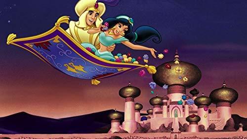 Zheng Puzzle para Adultos, Juegos de Puzzle de 1000 Piezas,Juegos Familiares -Cartel Dibujado a Mano de Aladdin- Cartón Grueso, Puzzle de Desafío Cerebral para niños