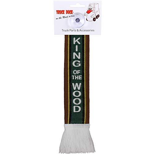 TRUCK DUCK® LKW Auto Minischal King of the Wood Trucker Mini Schal Wimpel Flagge Fahne Saugnapf Spiegel Deko