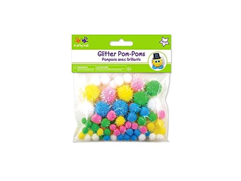 Krafty Kids Poms Glitter Pack, Assorted Sizes, Pastel