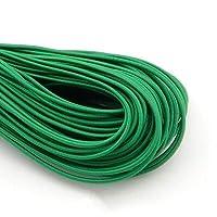 2mmカラフルな高弾性ラウンド弾性バンドラウンド弾性ロープゴムバンド弾性線DIY縫製5メートル yangqin (Color : 5M Green)