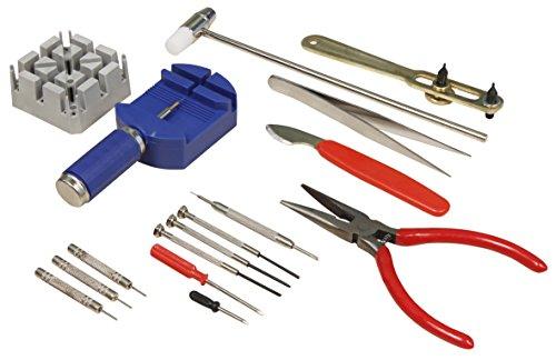 MC POWER - Uhrenwerkzeug-Set | 16-teilig, Stiftaustreiber, Schraubendreher uvm.