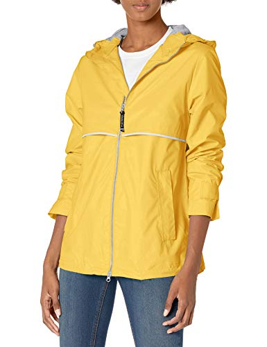 Charles River Apparel womens New Englander Wind & Waterproof Rain Jacket, Buttercup Reflective, S