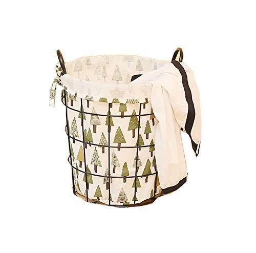 Yajun Wäschekorb Laundry Baskets Multifunktion Schmutziger Wäschesammler Atmungsaktive Mode Schön Geeignet Fürwohnzimmer Schlafzimmer Badezimmer,Tree,S