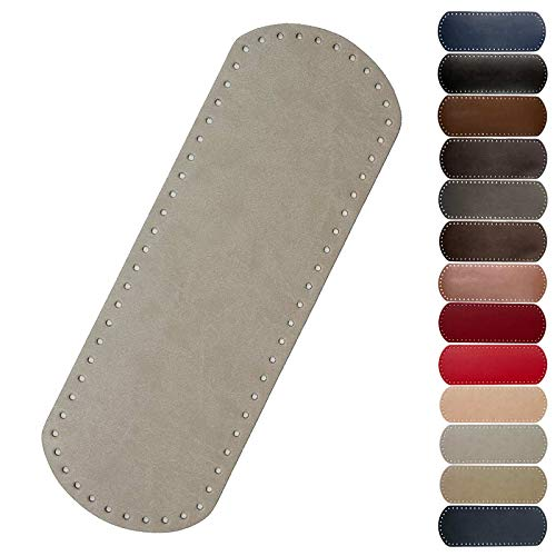 1 Taschenboden Kunstleder zur Taschenherstellung Boden Tasche Farb-/Größenwahl, Größe:12x36cm, Farbe:hellgrau