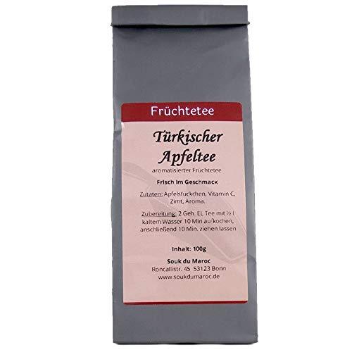 Früchtetee Tee türkischer Apfel Mischung ✔ Früchte Tee Tea Chay lose ✔ Teemischung ✔ ohne Zusatzstoffe & Konservierungsstoffe, 100g