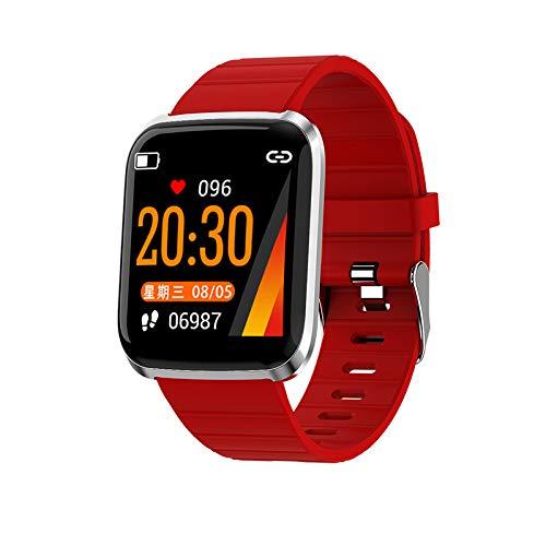 116pro Sport-smartwatch, bluetooth, bloeddrukmeter, fitnesstracker met hartslagmeting.  Azul Y Amarillo