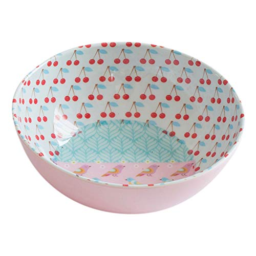 Overbeck and Friends Cherry Bol en mélamine Rose/turquoise/blanc/multicolore 15,5 cm
