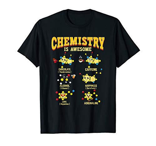Chemistry Is Awesome Shirt Kawaii Chemical Atoms & Molecules T-Shirt