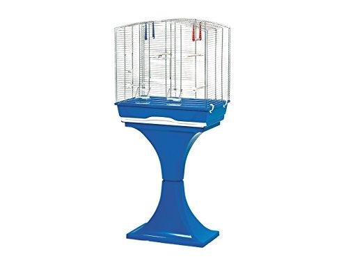 MPS Mara Gabbia con piedistallo per Uccello, Blu, 56,5x 36,5x 127cm