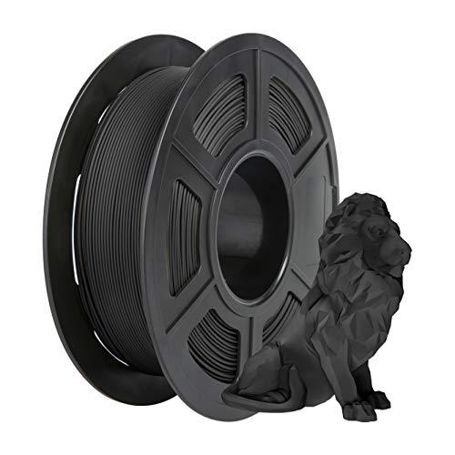 Matte PLA Filament, PRINSFIL Filament 1.75 mm PLA, Filament-3D-Druckmaterialien, 1 kg 1 Spool, Matte Black