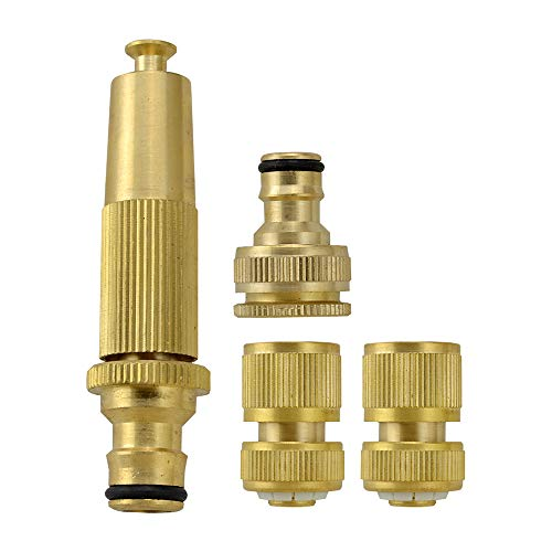 ANSIO Garden Hose Tap Connector 3/4 Inch & 1/2 Inch Outdoor Threaded Brass Tap Connector