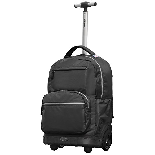 Olympia Melody 19' Rolling Backpack, Black