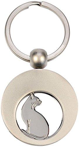 Schlüsselanhänger mit Einkaufswagenchip Katze