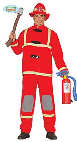 Guirca Costume pompiere Vigile del Fuoco tg XL carnevale uomo 88143