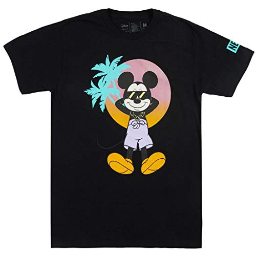Neff x Disney Men's Cool Mickey Mouse Short Sleeve T Shirt Black XL