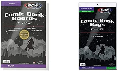 """BCW Backing Boards, 7 x 10 1/2"""", Silver"""