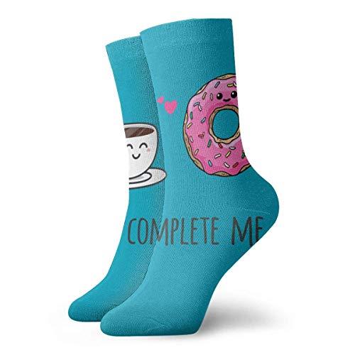 Chongha Unisex Jij vervolledigt me koffie atletische kousen lange sokken sport in de open lucht voor mannen vrouwen
