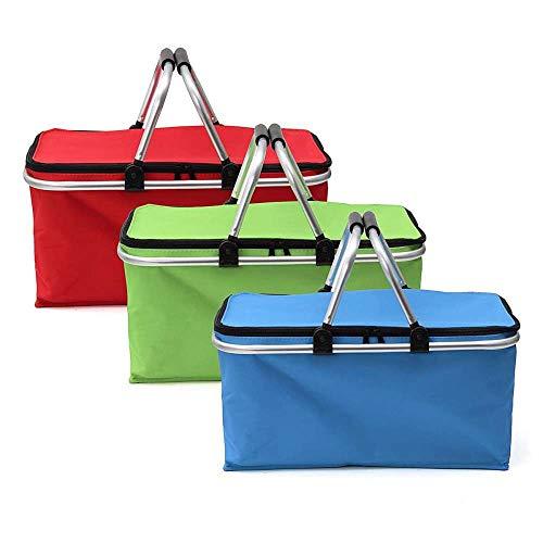 SHUHUAN Faltbare Picknicktasche Camping Bergsteigen Wärmeisolierung Lunch Bag Outdoor Picknickkorb Cooler Korb tragbare Aufbewahrungsbox