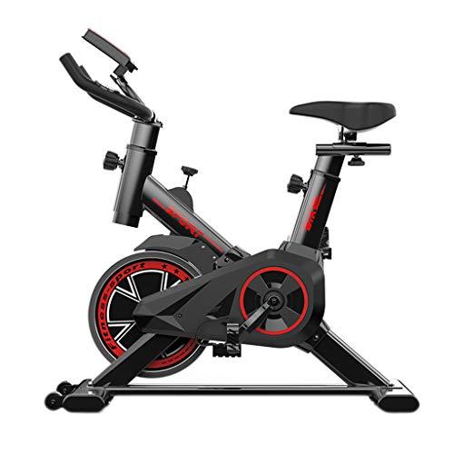 VBNM Ciclos De Bicicleta Estática, Manillar Y Asiento Ajustables para El Hogar, Monitor Lee Velocidad, Distancia, Tiempo, Calorías con Pantalla LED - Negro