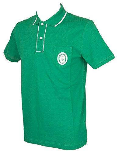 Trussardi Kurzarm Herren Poloshirt mit Kragen und Knöpfe Artikel TB611G, 368 Edera, XL