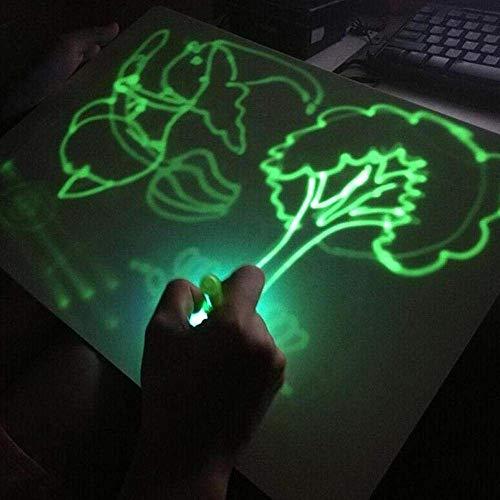 Tama/ño A4 Incluye Tablero 1 Bol/ígrafo de Luz 2 Plantillas iLight Nueva Pizarra Infantil M/ágica de Dibujo con Luz Juego de Pintar para Ni/ños Ni/ñas de 3 a 9 a/ños Fomenta la Creatividad