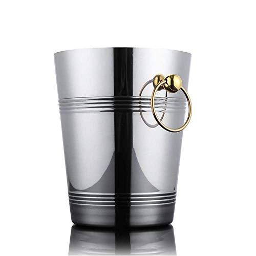 N\C DMKD Cubo de Oro portátil Creativo de Estilo Europeo, Barra de Hielo de champán para Vino Tinto, Cubo de Xiaoice para el hogar, Acero Inoxidable Dorado 3L5L zkz DMKD