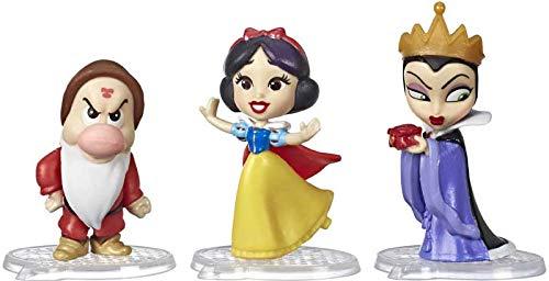 Disney Princesse Comics - E7407 - Pack de 3pcs Figurines - Tranche de Vie de Blanche Neige - 5cm - Neuf