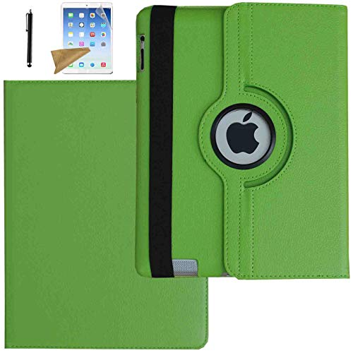 Lingsor Rotating Case for 2019 ipad Air 3rd generation/2017 iPad Pro 10.5, Magnetic Stand Smart Cover Built in Pen Holder- Auto Sleep/Wake up – Come with Stylus/Screen Protector (Green)