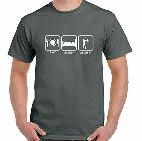 Archery t-Shirt eat Sleep Men Funny Archer Unisex top Black XXL